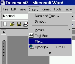Software Tip - File in file