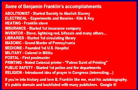 List of inventions - Ben Franklin